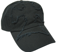 Frayed Cross Cap Black  -
