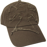 Frayed Cross Cap Brown  -