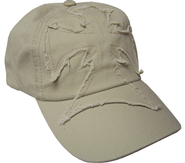 Frayed Cross Cap Khaki  -