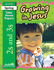 Growing in Jesus (ages 2 & 3) Take-Home Papers   -