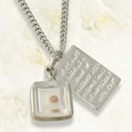 Mustard Seed Tag Necklace, Sterling Silver  -