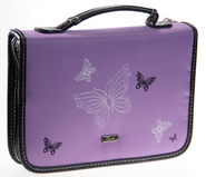 Butterflies Bible Cover, Lavender, Medium  -