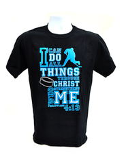 I Can Do All Things Shirt, Hockey, Black, Medium  -