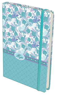 Paisley Hardcover Journal, Hope, Blue and Lilac  -