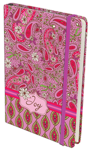 Paisley Hardcover Journal, Joy, Pink and Red  -