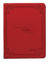 LuxLeather Journal, I Know the Plans, Red  -