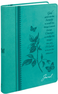 Journal, Serenity Prayer, Aqua  -