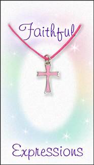 Cross Necklace, Pink  -