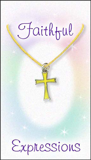 Cross Necklace, Yellow  -