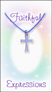Cross Necklace, Blue  -