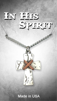 Wrapped Cross Pendant  -