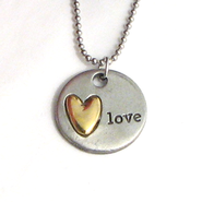 Heart Love Pendant  -