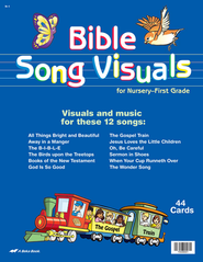 Bible Song Visuals Cards for Nursery-First Grade   -