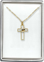 Cross Dove Necklace  -