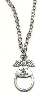 Sisters Are Angels Eyeglass and Badge Holder  -