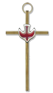 Red Dove Wall Cross  -