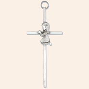 Praying Girl Wall Cross  -