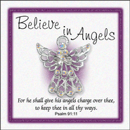 Believe In Angels Pin, Large  -