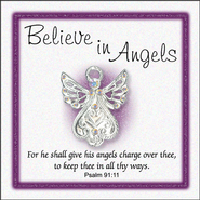 Believe In Angels Pin, Small  -