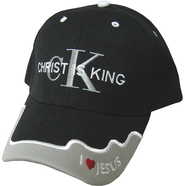 Christ Is King Cap Black  -