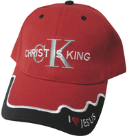 Christ Is King Cap Red  -