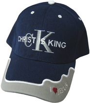 Christ Is King Cap Navy  -
