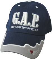 God Answers Prayers Cap Navy  -