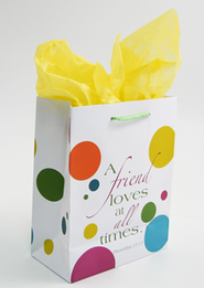 A Friend Loves at All Times Gift Bag, Medium  -
