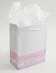 Children Are a Gift From God Gift Bag, Pink, Medium  -