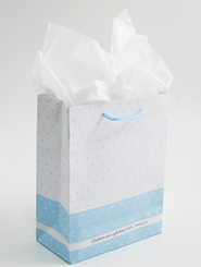 Children Are a Gift From God Gift Bag, Blue, Small  -