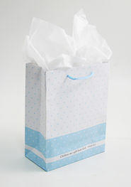 Children Are a Gift From God Gift Bag, Blue, Medium  -