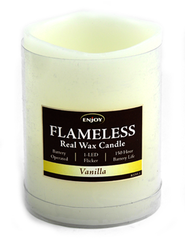 Pillar LED Candle, 3x4, Vanilla (ivory)   -