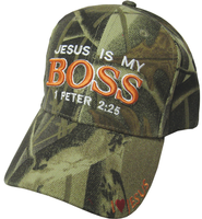 Jesus Is My Boss Cap Camo  -