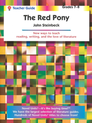 Red Pony, Novel Units Teacher's Guide, Grades 7-8   -     By: John Steinbeck