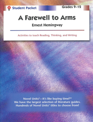 A Farewell to Arms, Novel Units Student Packet, Grades 9-12   -     By: Ernest Hemingway