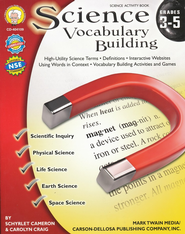 Science Vocabulary Building Grades 3-5   -              By: Schylet Cameron, Carolyn Craig
