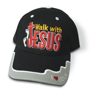 Walk With Jesus Cap Black  -