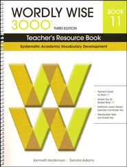 Wordly Wise 3000 Teacher's Resource Book 11, 3rd Ed    -