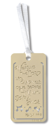 Musician's Prayer Metal Bookmark  -