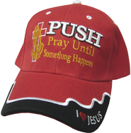Pray Until Something Happens Cap Red  -