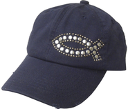 Studded Fish Cap Navy  -