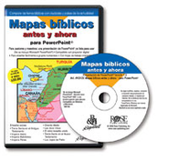 Then and Now Bible Maps PowerPoint (Spanish Language)  [Download] -     By: Rose Publishing