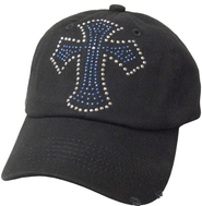 Studded Cross Cap Black  -