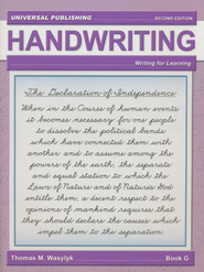 Cursive Writing-Book G, 2nd Edition Grade 6  -              By: Thomas M. Wasylyk