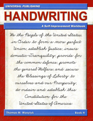Cursive Writing-Book H, 2nd Edition Grade 7  -     By: Thomas M. Wasylyk