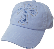Studded Cross Cap Blue  -