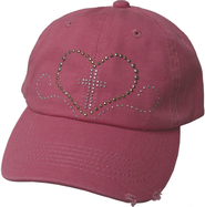 Studded Heart Cap Pink  -