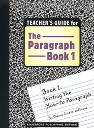 The Paragraph Book 1, Teacher's Guide   -     By: Dianne Tucker-LaPlount