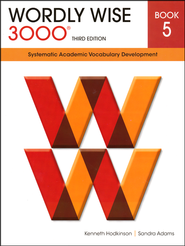 Wordly Wise 3000 Student Book Gr 5, 3rd Edition   -<br />         By: Kenneth Hodkinson, Sandra Adams</p> <p>