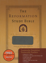 ESV Reformation Study Bible (2nd Edition), Leather-Like, Gray  -     Edited By: R.C. Sproul